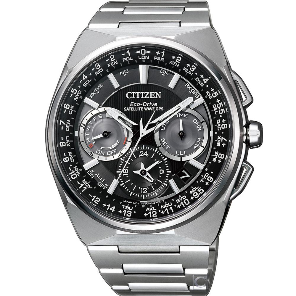 CITIZEN 光動能鈦金屬衛GPS星對時腕錶(CC9009-81E)48mm @ Y!購物