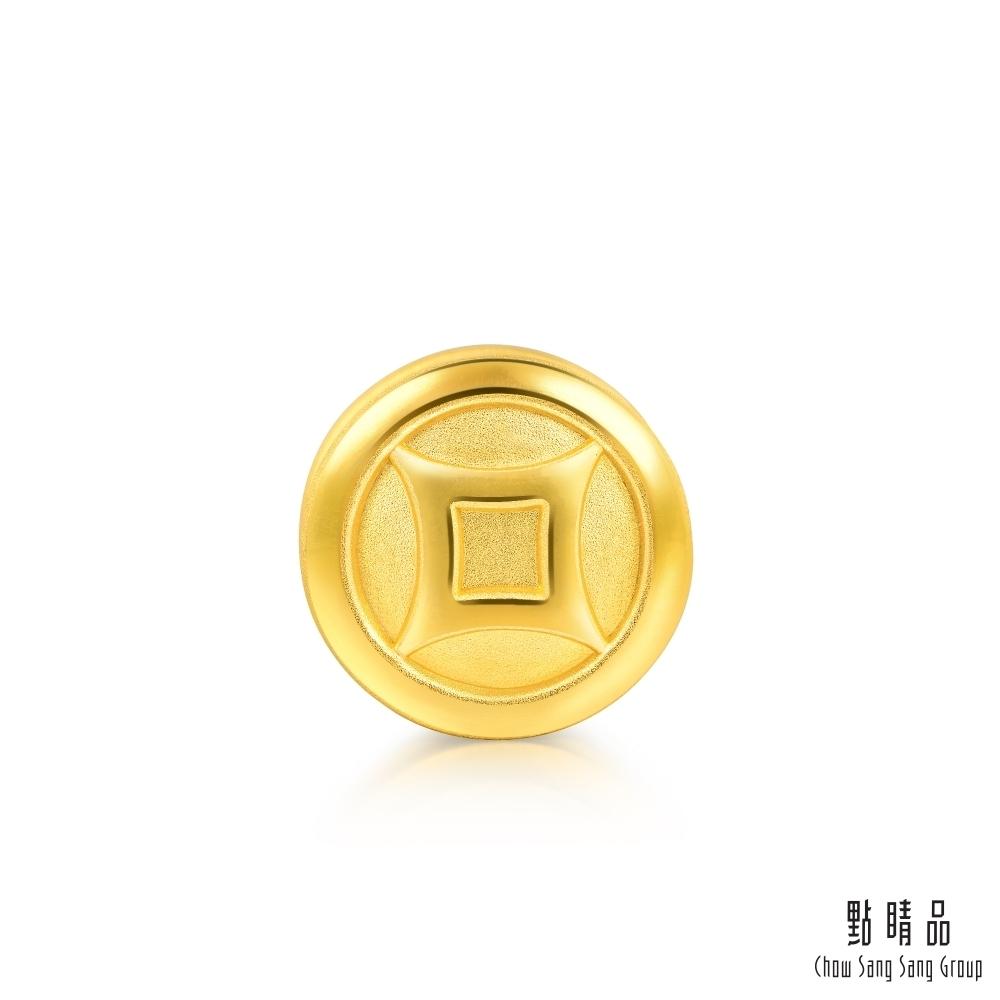 點睛品 Charme 新生彌月-銅錢 黃金串珠