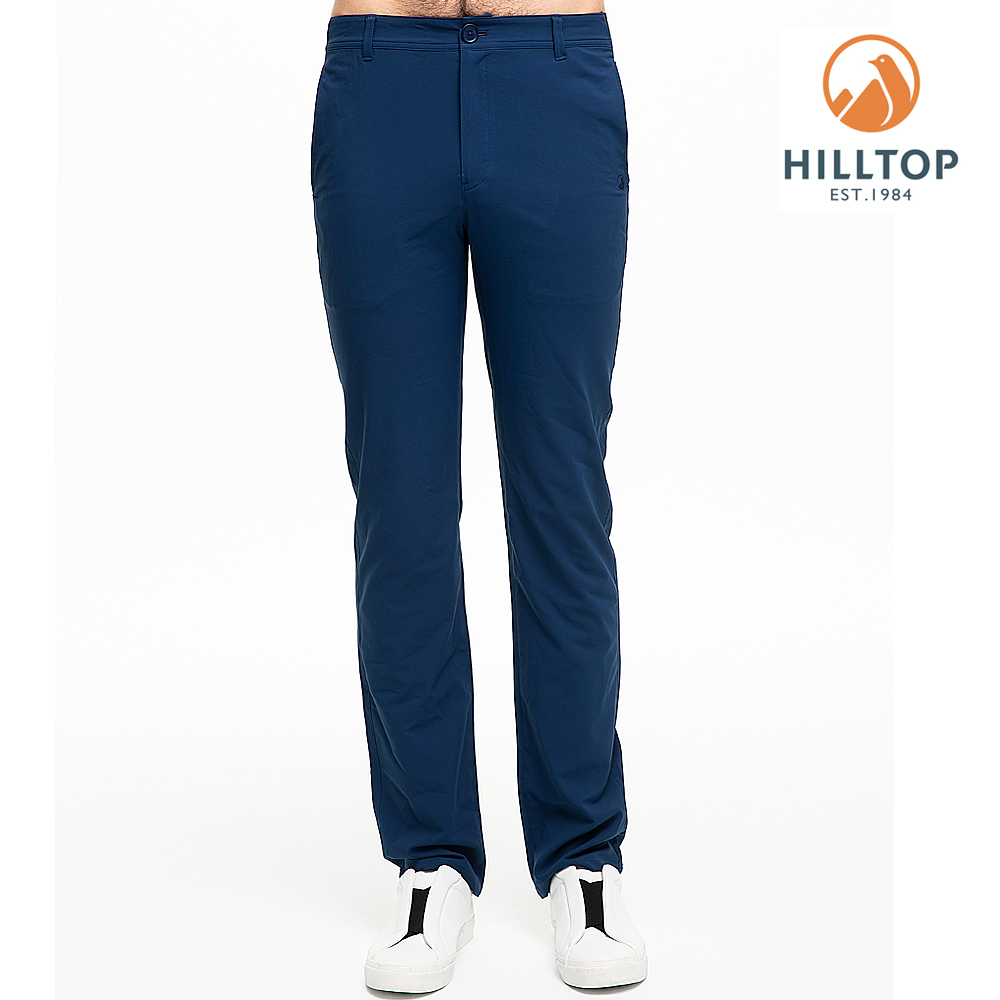 【hilltop山頂鳥】男款超潑水抗UV長褲S07MB8中世紀藍