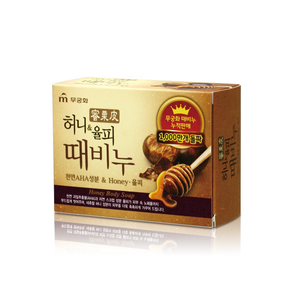 韓國MKH無窮花-汗蒸幕蜂蜜栗皮去角質搓仙皂 100g