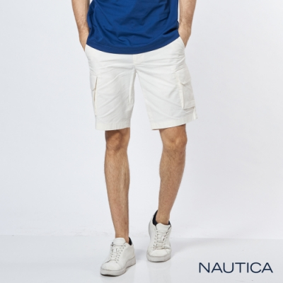 Nautica 舒適休閒口袋短褲-白