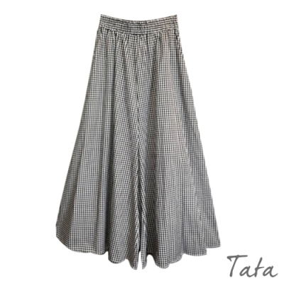 格紋寬褲裙 TATA-F