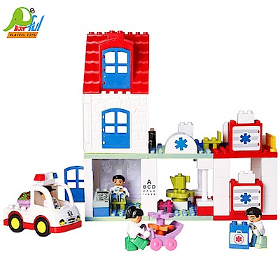 【Playful Toys 頑玩具】城市救護站積木