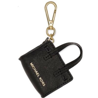 MICHAEL KORS DILLON 防刮皮革造型吊飾(黑)