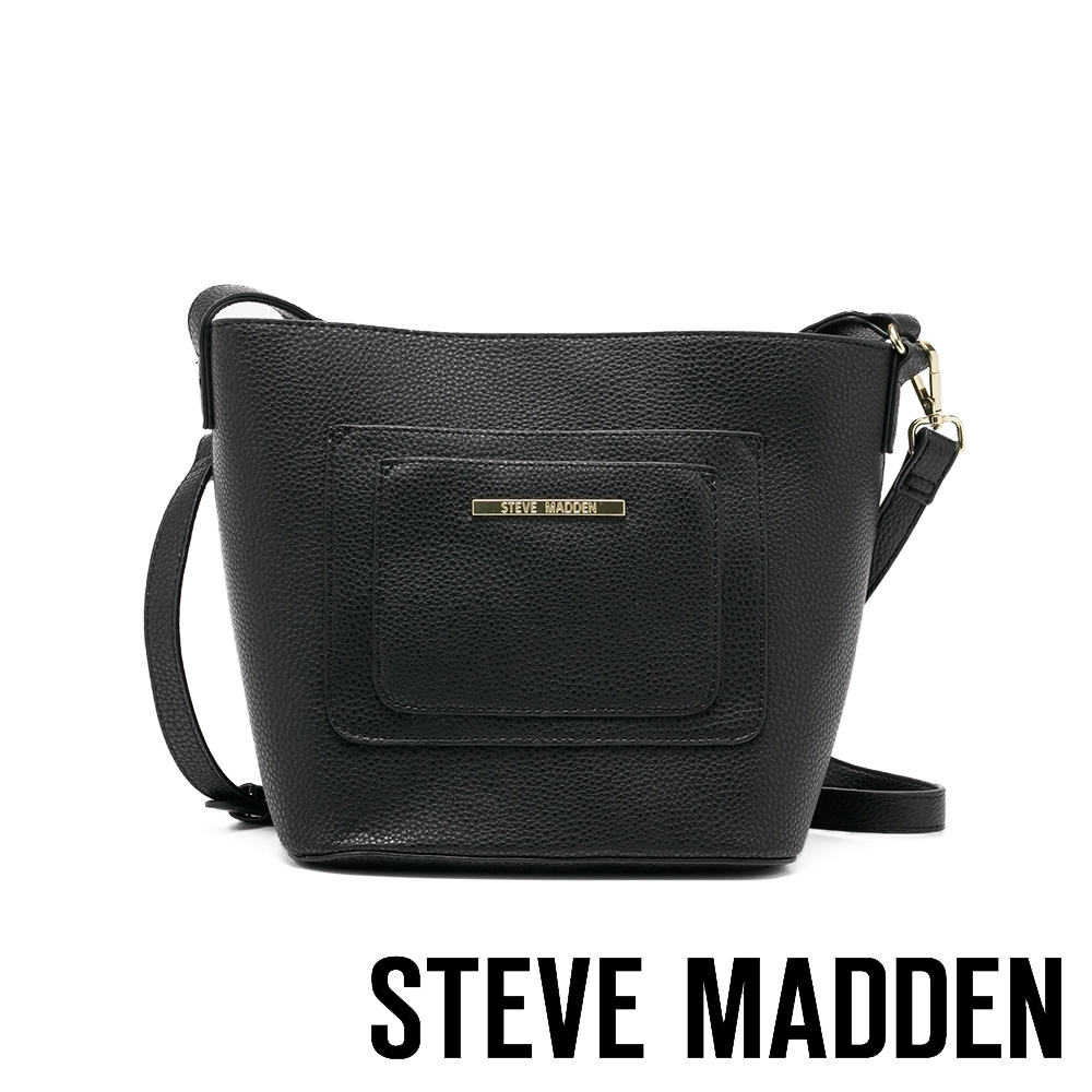 STEVE MADDEN-BEMILIA 簡約多收納肩背側背托特包-黑色
