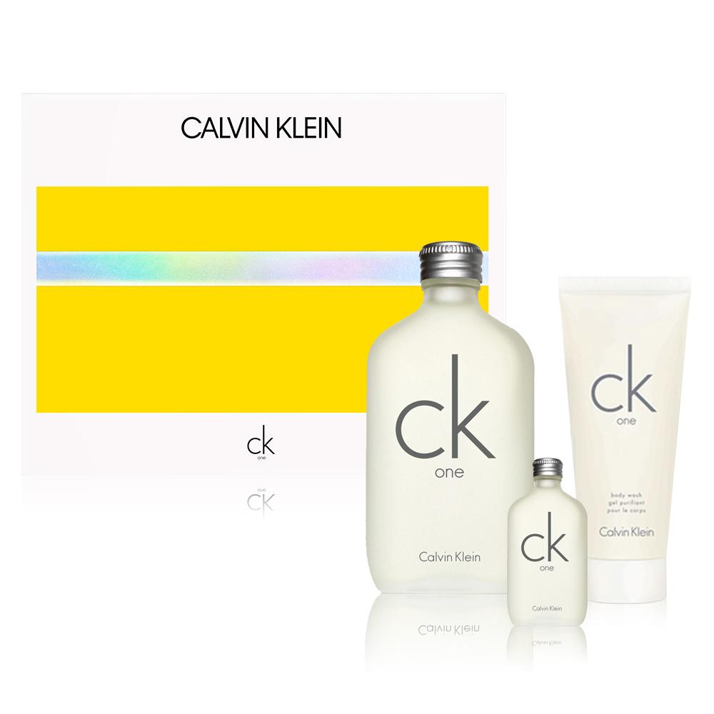 CalvinKlein CK one香水禮盒(淡香水+沐浴膠100ml+淡香水15ml) @ Y!購物