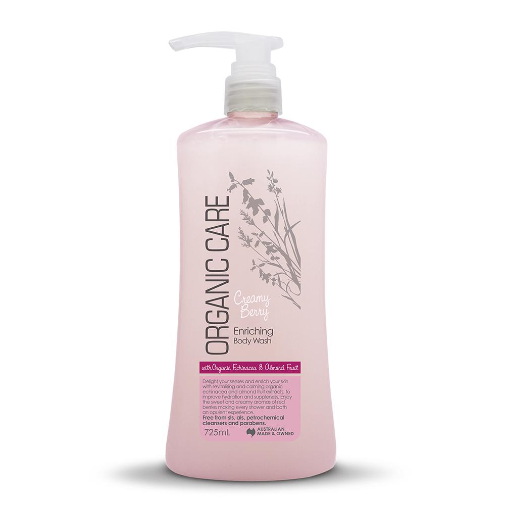 (即期品)澳洲Natures Organics 植粹保濕沐浴乳-草莓牛奶725mlx3入