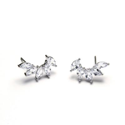 STORY故事銀飾-氣質時尚耳環-Spread晶鋯耳環