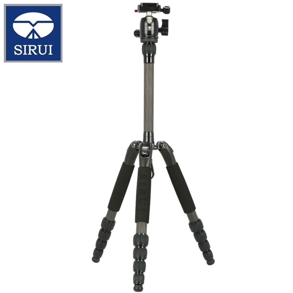 Sirui思銳小型攜帶型碳纖維三腳架T-025SK(高138cm.重1kg.含B-00K萬向球型雲台和arca-swiss快拆板)三角架旅行腳架