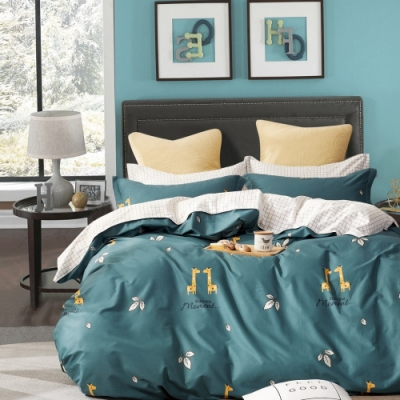 La Lune MIT頂級精梳棉200織紗單人床包新式兩用被四件組 你儂我儂