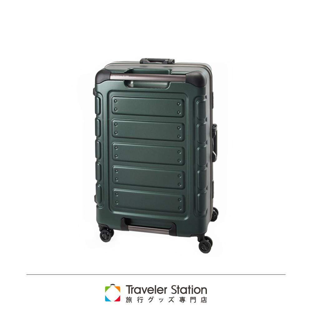CROWN 皇冠 22吋鋁框箱 深綠色 悍馬箱 獨特箱面手把 行李箱 product image 1