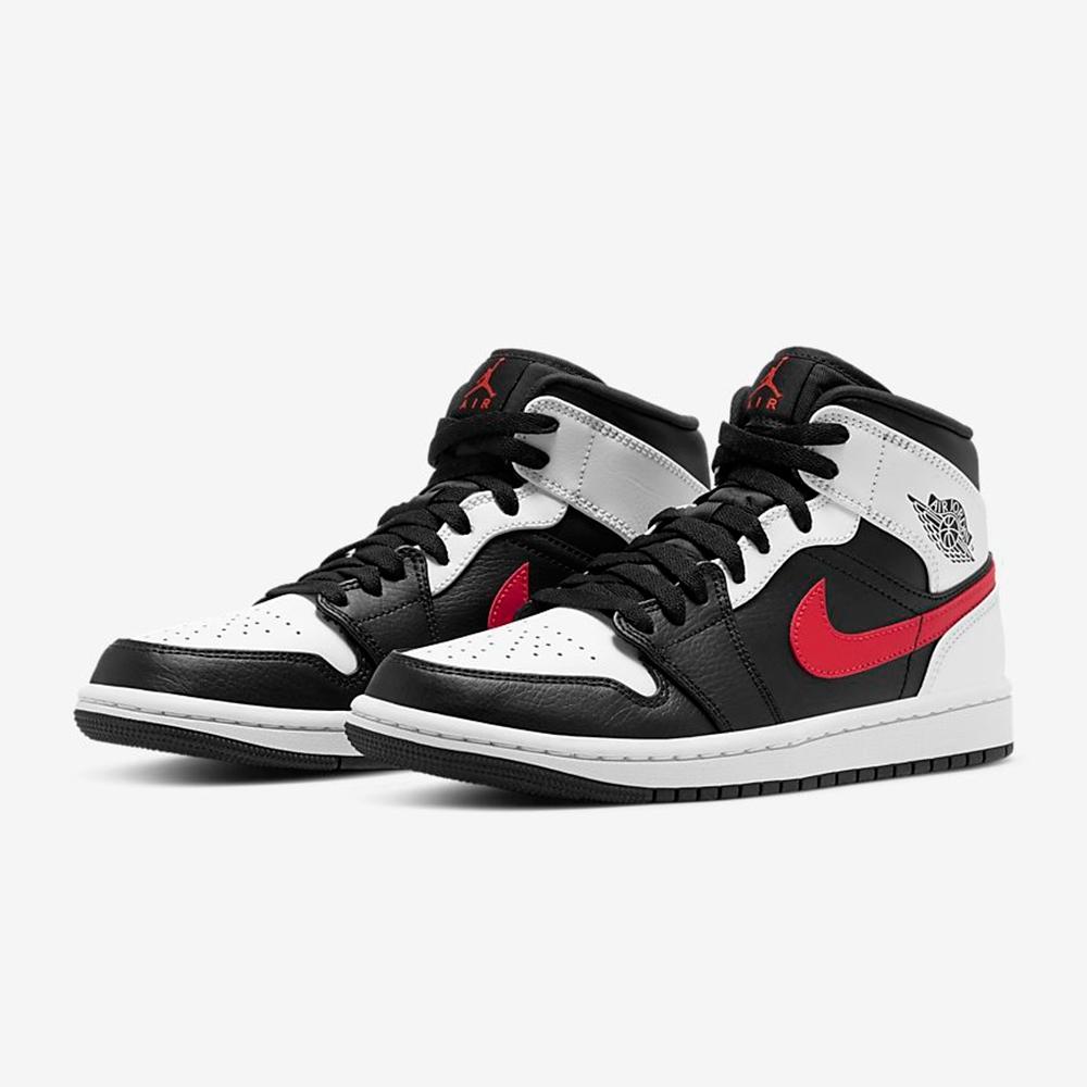 NIKE 籃球鞋 運動鞋 喬丹 緩震 包覆 男鞋 黑白 554724-075 Air Jordan 1 Mid