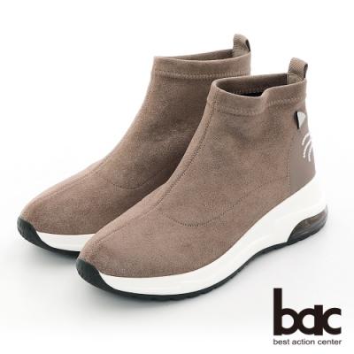 【bac】休閒享樂閃耀彈力俏皮休閒襪靴-咖啡色
