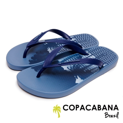Copacabana 巴西海灘棕櫚樹人字鞋-土耳其藍
