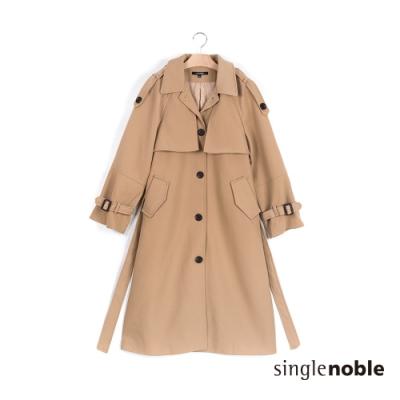 獨身貴族 優雅貴族風造型風衣外套(2色)