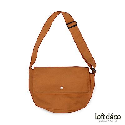Loft Deco | Brown | 純色報童包