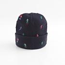 Roots 配件- 滑雪刺繡針織帽-藍