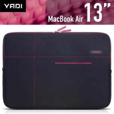 YADI MacBook Air 13吋專用內袋_抗衝擊_防震機能_粉蝶紅