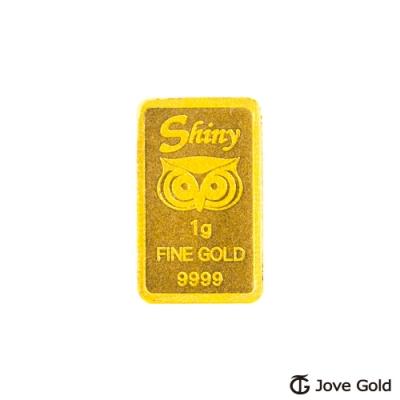 [時時樂限降]Jove Gold 幸運守護神黃金條塊-1公克