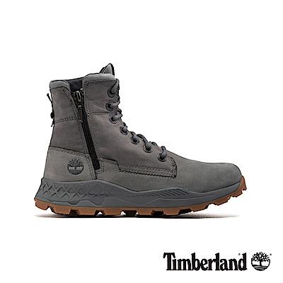 Timberland 男款中灰色磨砂革側拉鏈靴|A2152