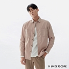 H UNDERSCORE 全新潮牌 男裝 - 純色簡約棉質襯衫 - 粉色