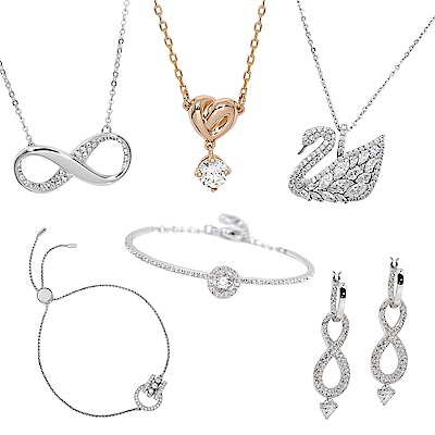 [時時樂限定]SWAROVSKI 施華洛世奇 璀璨水晶項鍊/耳環/手鍊