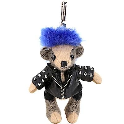 BURBERRY THOMAS 龐克皮衣泰迪熊吊飾