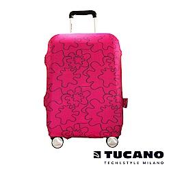 TUCANO X MENDINI 高彈性防塵行李箱保護套 S-粉