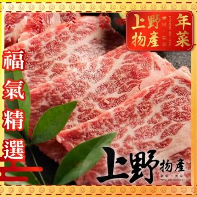 (滿額優惠)上野物產-美國極黑和牛SRF翼板燒肉片 x5盒組(100g/盒)