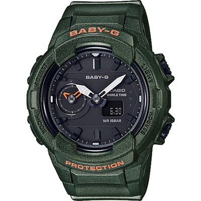 BABY-G 秋冬街頭時尚風格雙顯女錶-珠光綠(BGA-230S-3A)/42mm