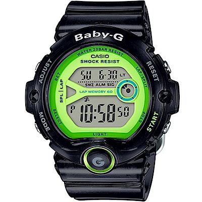 BABY-G 熱血女孩繽紛果凍系列運動錶(BG-6903-1B)-灰色/45mm