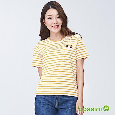 bossini女裝-圓領短袖上衣03芒果黃