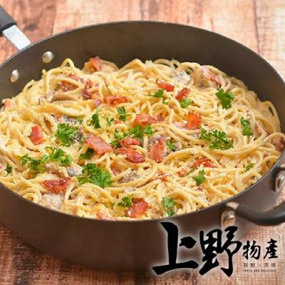 上野物產-沙勒美白醬培根義大利麵 x12包(麵體+醬料包 300g土10%/包)