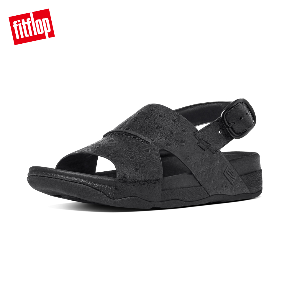 FitFlop TM-BANDO TM LEATHER BACK-STRAP-黑色