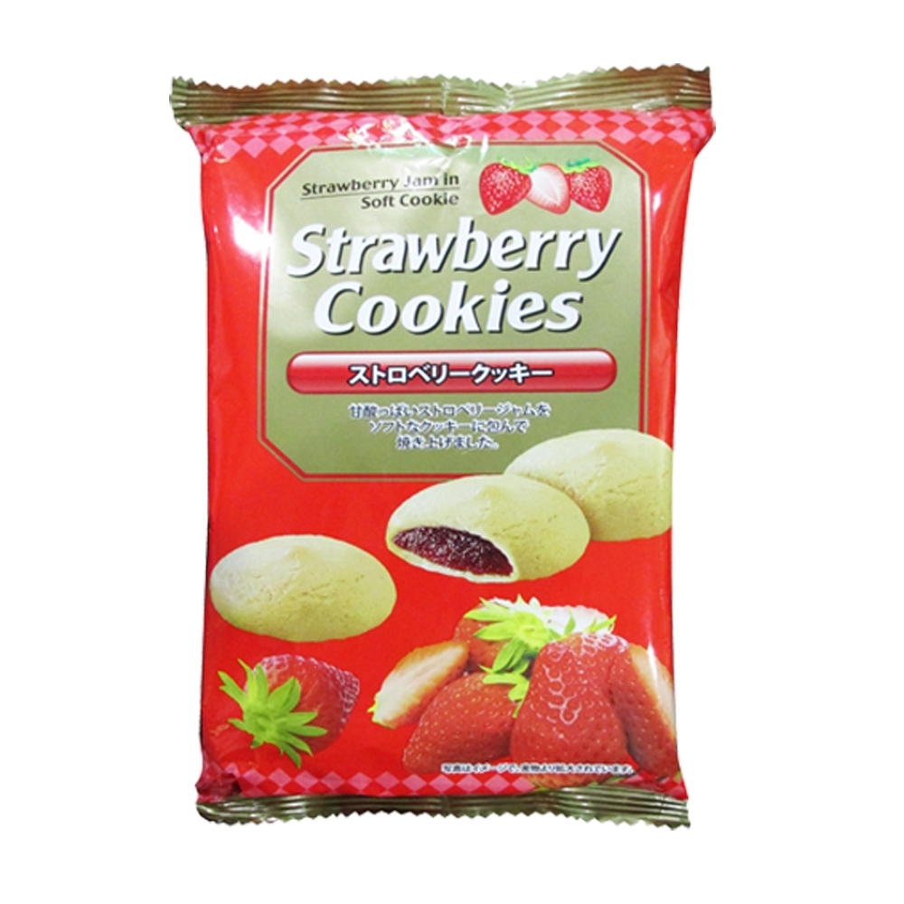 真美味 草莓風味夾心餅乾100g
