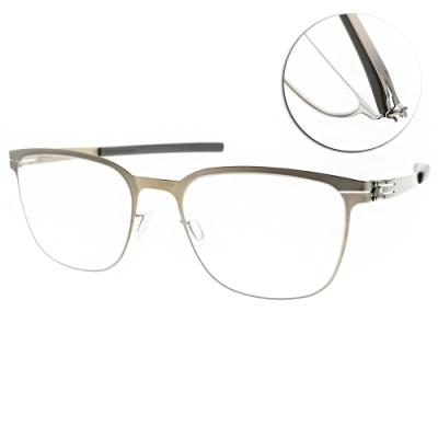 ic!berlin眼鏡 薄鋼 紳士品味款/復古金 #HIRO I. BRONZE