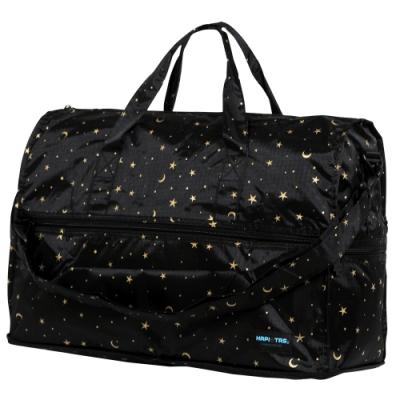 【HAPI+TAS】女孩小物折疊旅行袋(小)-星空黑