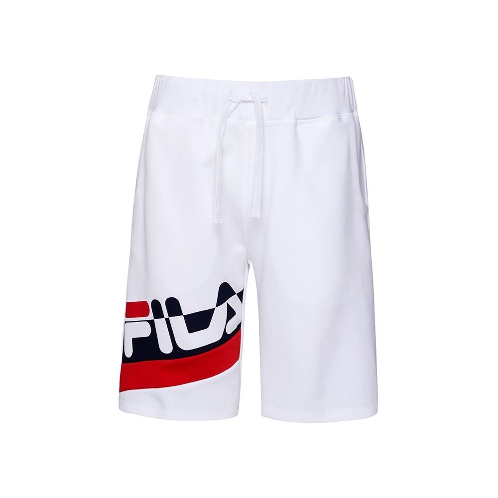 FILA #日潮攻略首部曲 針織短褲-白色 1SHU-1415-WT