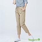 bossini女裝-輕鬆長褲01卡其