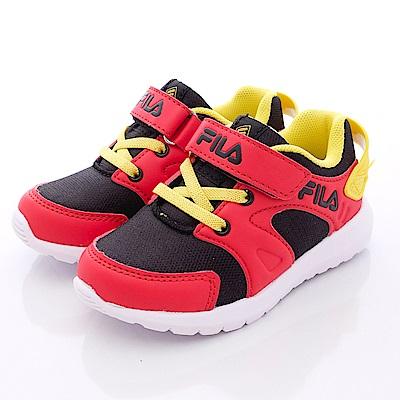 FILA頂級童鞋款 輕量運動鞋款 EI53Q-290黑紅(小童段)0