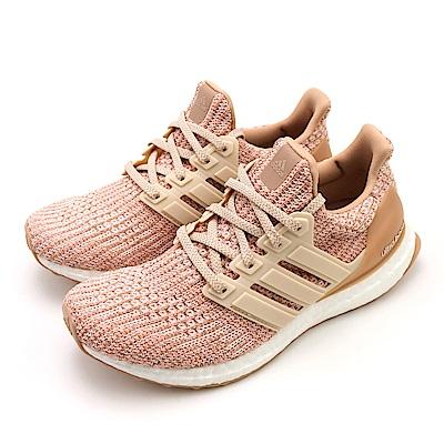 ADIDAS-ULTRABOOST W女慢跑鞋-粉橘