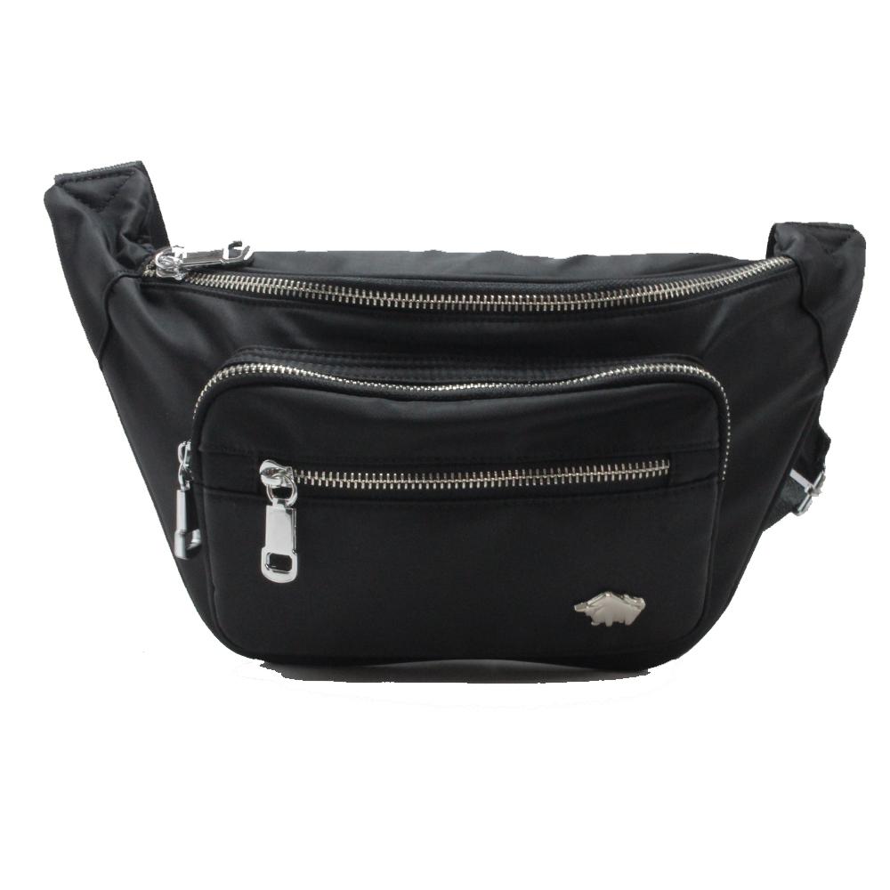 DRAKA 達卡 - 突破進化系列-奢華黑銀腰包