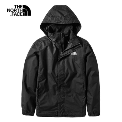 The North Face 男 防水透氣衝鋒外套 黑- NF0A49F7JK3