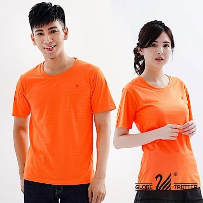 【遊遍天下】台灣製中性款輕量吸濕排汗機能圓領衫S107桔色