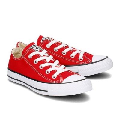 CONVERSE ALL STAR 男女款 低筒帆布鞋-紅 M9696C