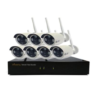 宇晨I-Family免配線/免設定1080P八路式無線監視系統套裝一機七鏡