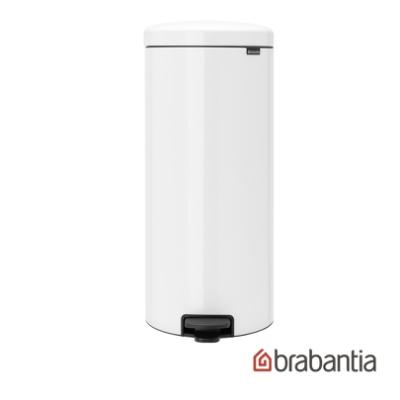 【Brabantia】NEWICON 環保垃圾桶30L-純淨白