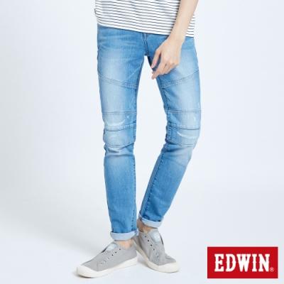 EDWIN 503 剪接破窄管牛仔長褲-男-漂淺藍
