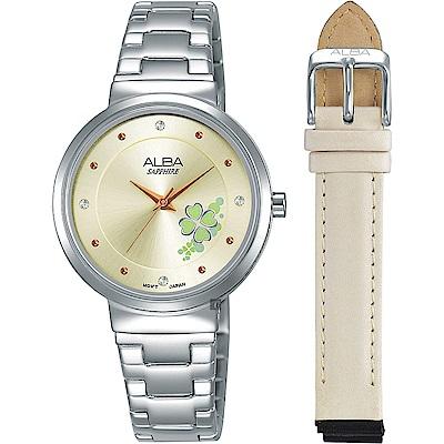 ALBA 雅柏 Fashion lady 幸運草女孩套錶(AH8569X1)-30mm
