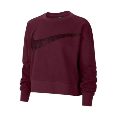 Nike 上衣 Fleece Training Top 女款 Dri-FIT 吸濕排汗 快乾 大勾 短版 紫 CU9015638